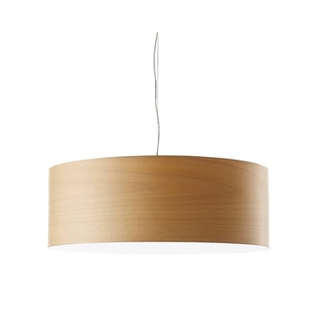 Suspension super gea hetre naturel led h25cm o70cm lzf normal