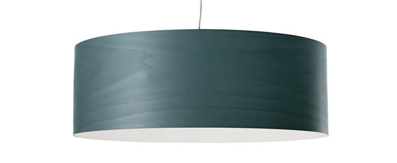 Suspension super gea turquoise led h25cm o70cm lzf normal