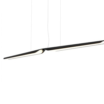 Suspension swan noir l162cm led 3000k 2814lm tunto normal
