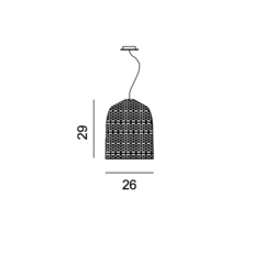 Sweet 91 paola navone suspension pendant light  gervasoni sweet91 nero  design signed 36319 thumb