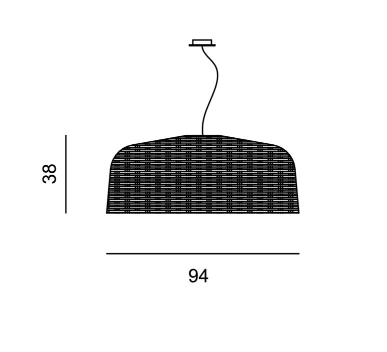Sweet 95 paola navone suspension pendant light  gervasoni sweet95 nero  design signed 36338 product