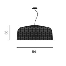 Sweet 95 paola navone suspension pendant light  gervasoni sweet95 nero  design signed 36338 thumb