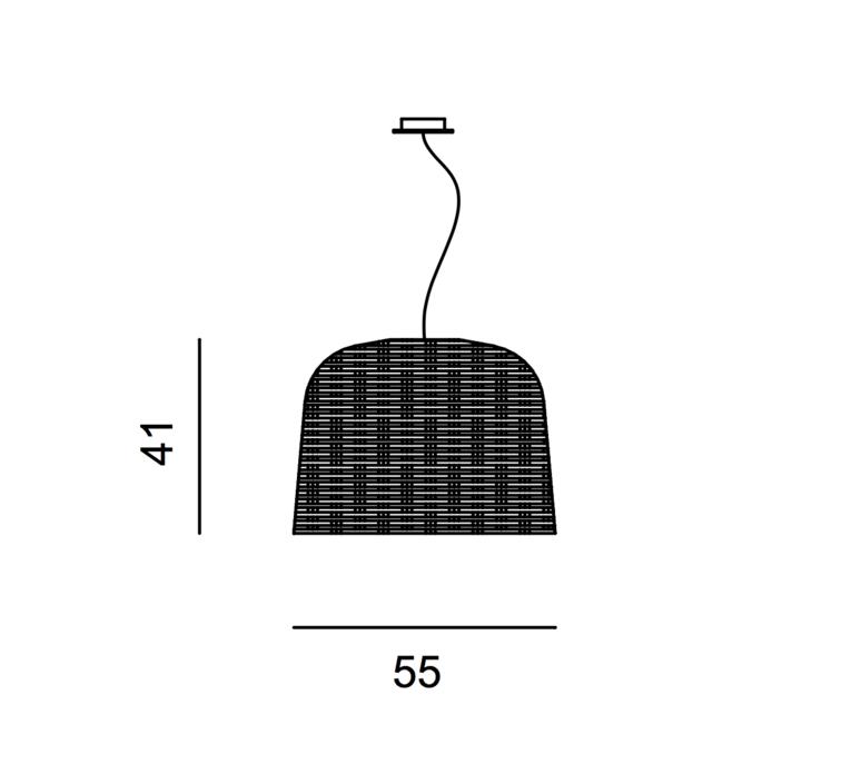Sweet 96 paola navone suspension pendant light  gervasoni sweet96 nero  design signed 36328 product