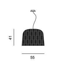 Sweet 96 paola navone suspension pendant light  gervasoni sweet96 nero  design signed 36328 thumb