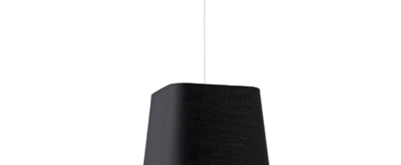 Suspension sweet noir o40cm h13 6cm faro normal