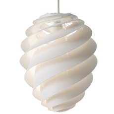 Pendant Light Swirl 2 Small White ø18cm H23cm Le Klint Nedgis Lighting