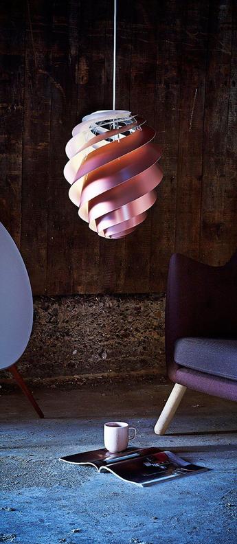 Suspension swirl 2 small cuivre o18cm h23cm le klint normal