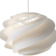 Pendant Light Swirl Medium White ø45cm H33cm Le Klint Nedgis Lighting