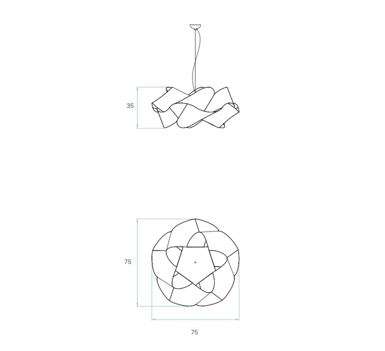 Suspension swirl sg 20 blanc o75cm h35cm lzf 54214 product
