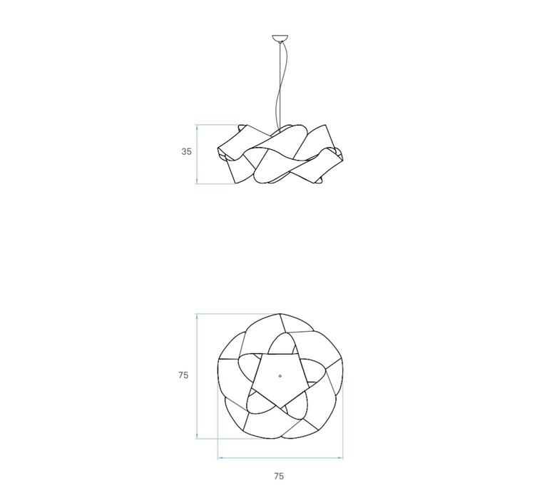 Suspension swirl sg 22 hetre naturel o75cm h35cm lzf 30036 product