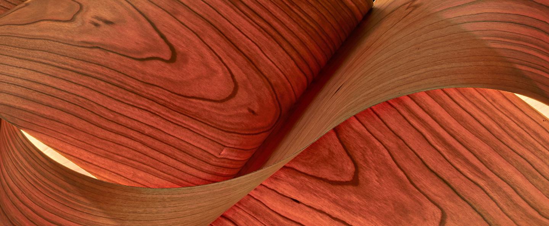 Suspension swirl small cerisier naturel o54cm h25cm lzf normal