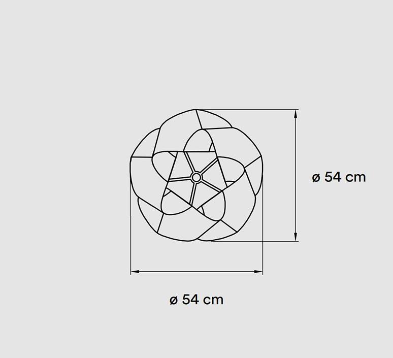 Swirl small ray power suspension pendant light  lzf swrl sp wh 21  design signed nedgis 106179 product