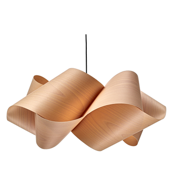 Suspension swirl small sp 22 bois marron o54cm h25cm lzf normal