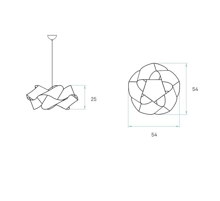 Suspension swirl sp 21 cerisier o54cm lzf 60226 product