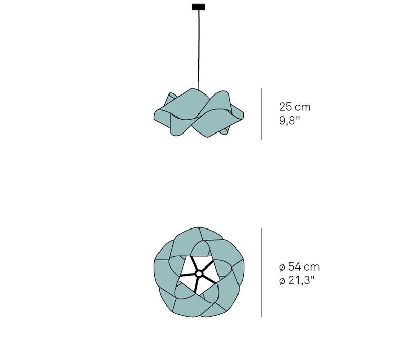 Suspension swirl sp 21 orange o54cm h25 lzf 85662 product