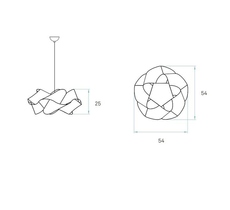 Suspension swirl sp 22 hetre naturel o54cm lzf 30031 product