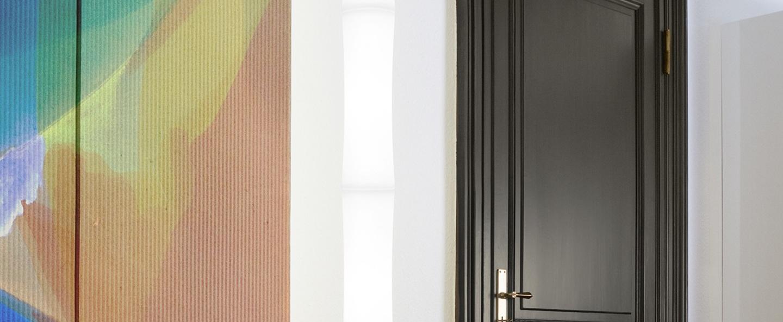 Suspension take plus led blanc base chrome h218cm lumen center italia normal