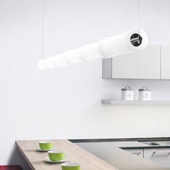Suspension take plus s6 led blanc base chrome l260cm lumen center italia normal