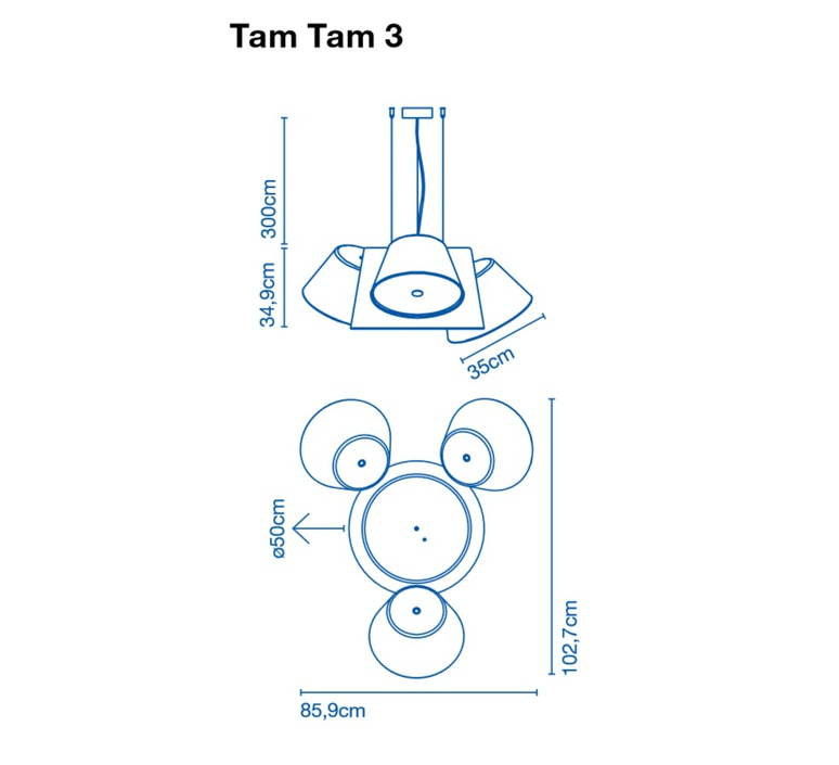Tam tam 3 fabien dumas marset a633 002 39 3xa633 001 39 luminaire lighting design signed 20512 product