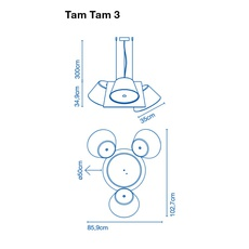 Tam tam 3 fabien dumas marset a633 002 39 3xa633 001 39 luminaire lighting design signed 20512 thumb