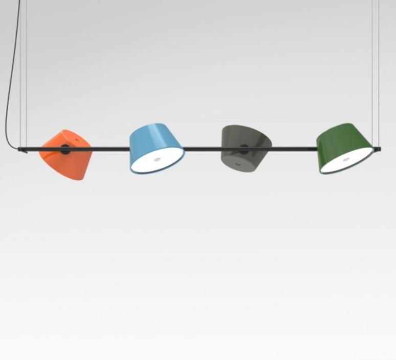 pendant light tam tam 4 multicolor l145cm marset nedgis lighting. Black Bedroom Furniture Sets. Home Design Ideas