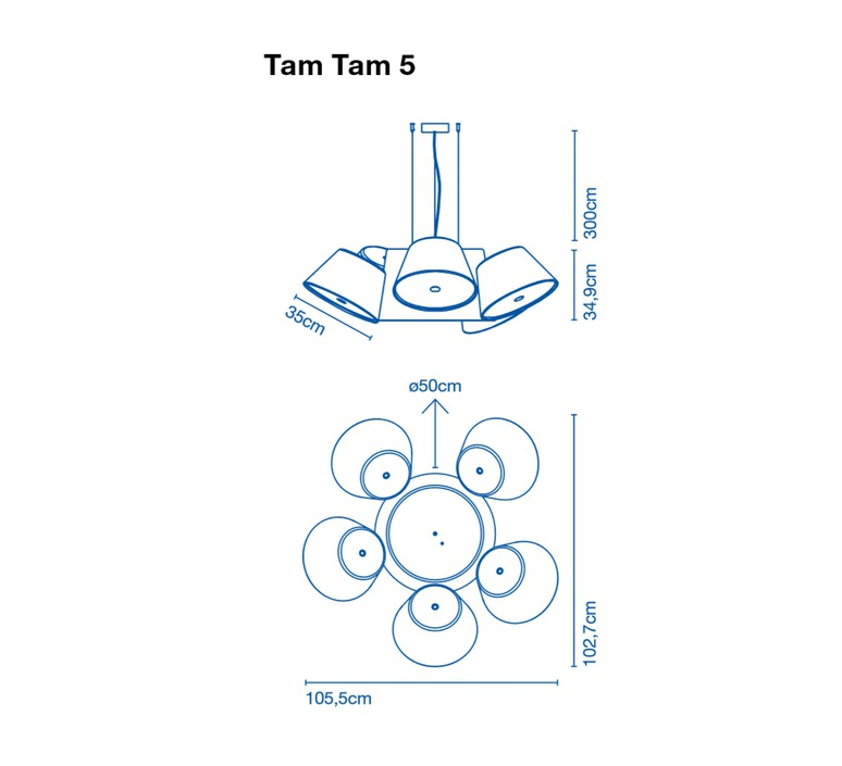 Tam tam 5 fabien dumas marset a633 003 39 5xa633 001 39 luminaire lighting design signed 20508 product