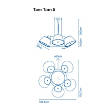 Tam tam 5 fabien dumas marset a633 003 39 5xa633 001 39 luminaire lighting design signed 20508 thumb