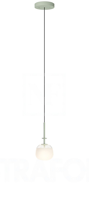 Suspension tempo 5772 vert 0led 2700k 300lm o13cm h26 8cm vibia normal