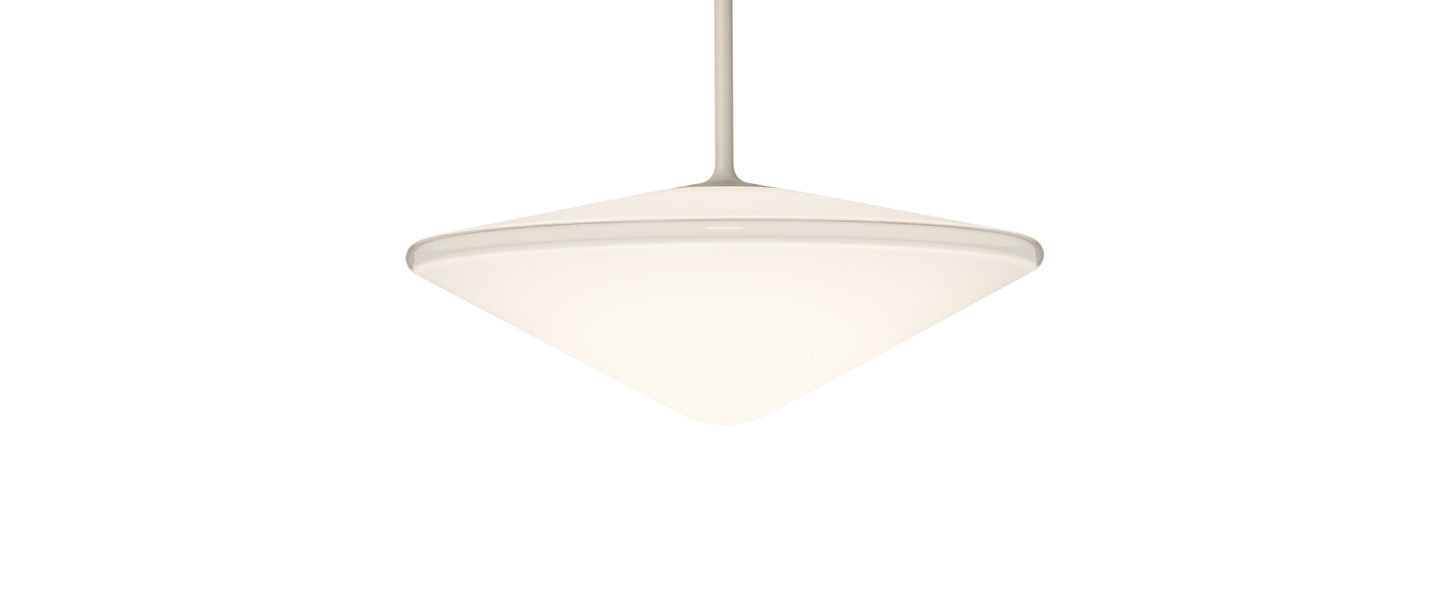 Suspension tempo 5774 beige 0led 2700k 300lm o20 5cm h29cm vibia normal