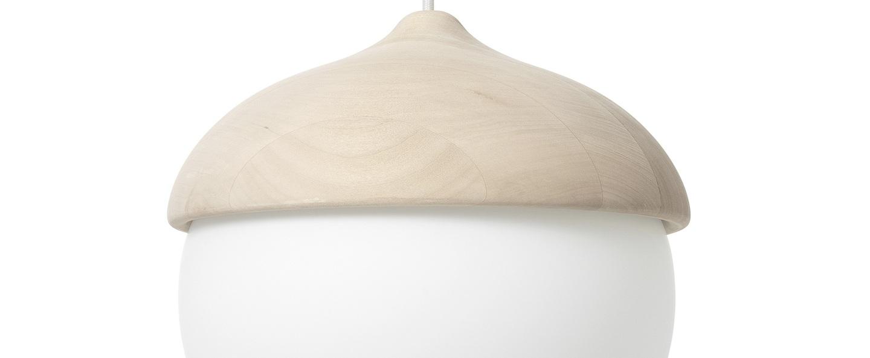 Suspension terho l bois tilleul opalin o30 5cm h30cm mater normal