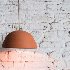 Terracotta bowl studio simple suspension pendant light  serax b7218409  design signed 59716 thumb