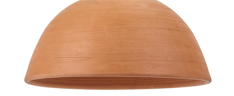 Suspension terracotta bowl terracotta o39cm h19cm serax normal