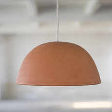 Terracotta bowl studio simple suspension pendant light  serax b7218410  design signed 59714 thumb