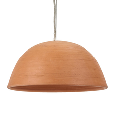 Terracotta bowl studio simple suspension pendant light  serax b7218410  design signed 59715 thumb