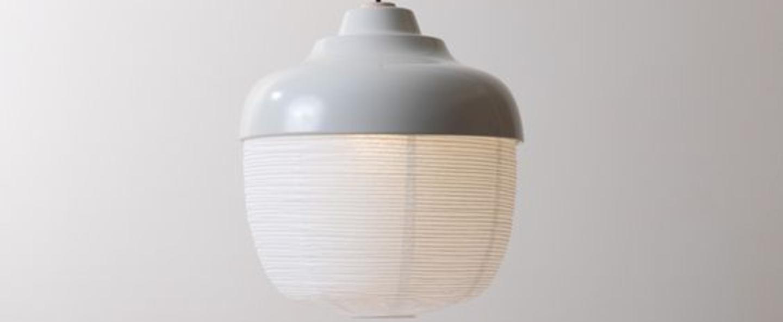 Suspension the new old light l blanc aube led o36cm h42cm kimu normal