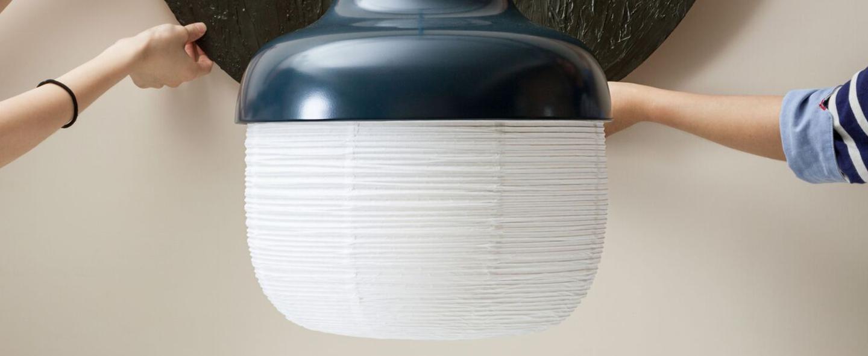 Suspension the new old light l bleu marine led o36cm h42cm kimu normal