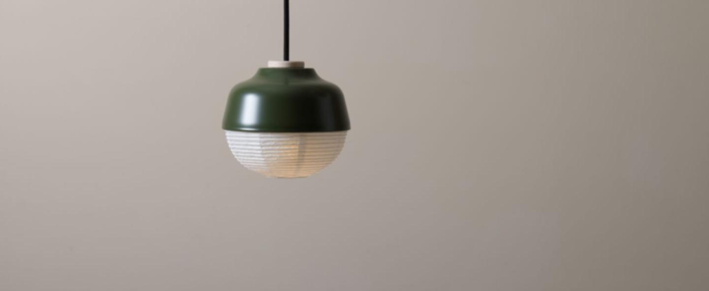 Suspension the new old light s vert labyrinthe led o16cm h14cm kimu normal