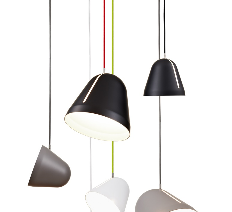 suspension tilt fil rouge noir 28cm nyta luminaires nedgis. Black Bedroom Furniture Sets. Home Design Ideas