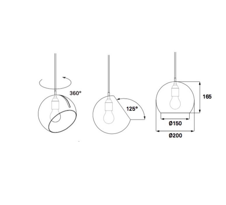 Tilt globe jjoo design nyta tilt globe 3 3 6 luminaire lighting design signed 22709 product