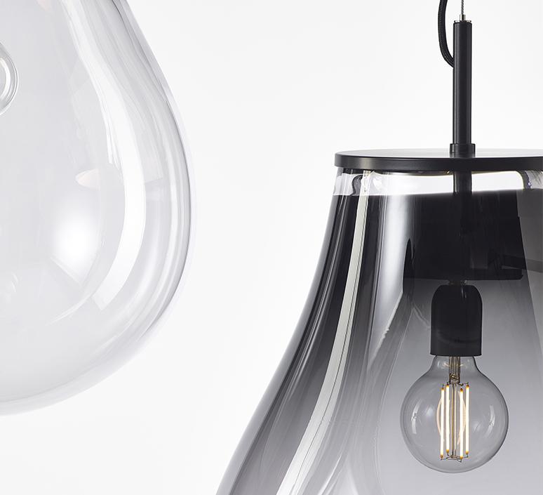 Tim small olgoj chorchoj suspension pendant light  bomma tim small grey  design signed nedgis 116886 product
