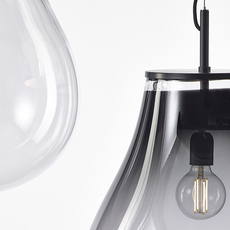Tim small olgoj chorchoj suspension pendant light  bomma tim small grey  design signed nedgis 116886 thumb