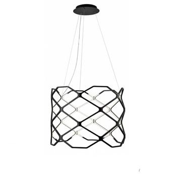 Suspension titia noir led 2700k 3850lm o70cm h60cm nemo lighting normal