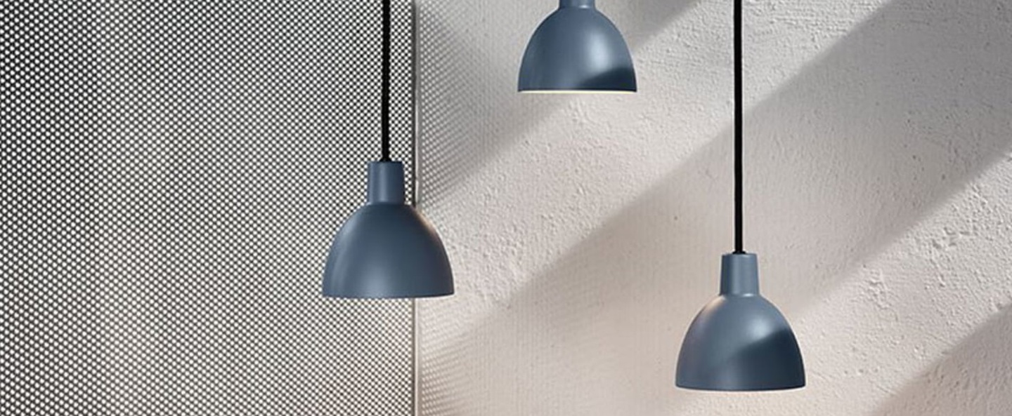 Suspension toldbod bleu gris o12cm h12 1cm louis poulsen normal