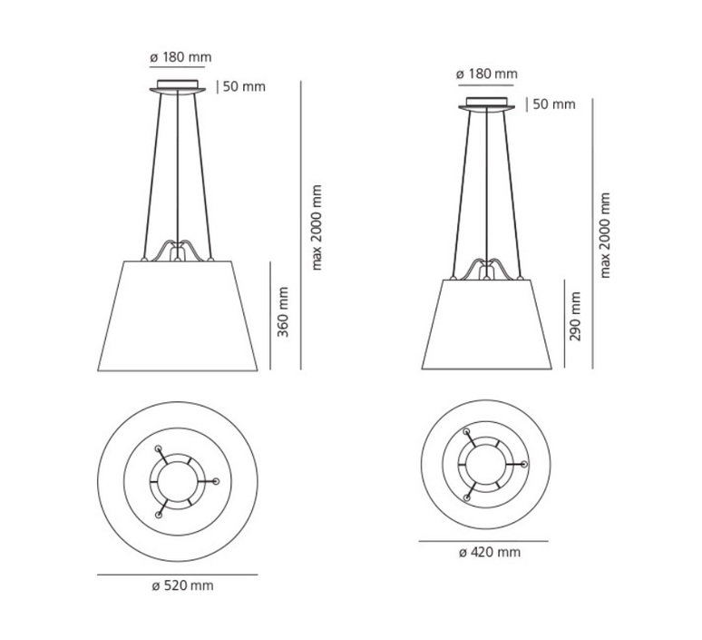 Tolomeo mega suspension michele de lucchi suspension pendant light  artemide 0782010a 0780030a  design signed nedgis 115838 product