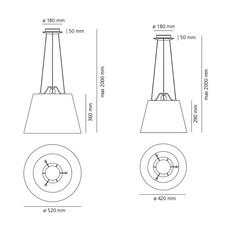 Tolomeo mega suspension michele de lucchi suspension pendant light  artemide 0782010a 0780030a  design signed nedgis 115838 thumb