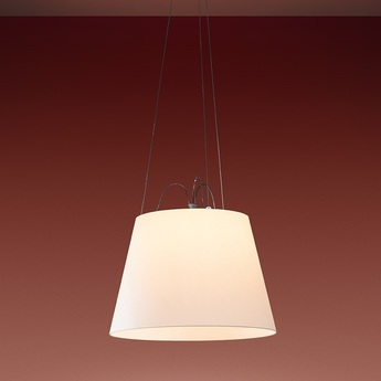 Suspension tolomeo mega suspension beige o42cm h29cm artemide normal