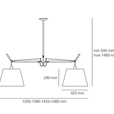 Tolomeo suspension basculante 2 bracci michele de lucchi suspension pendant light  artemide 0630010a 0780030a  design signed nedgis 115841 thumb