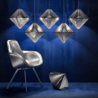 Suspension top gris led o43 9cm h43 9cm tom dixon normal