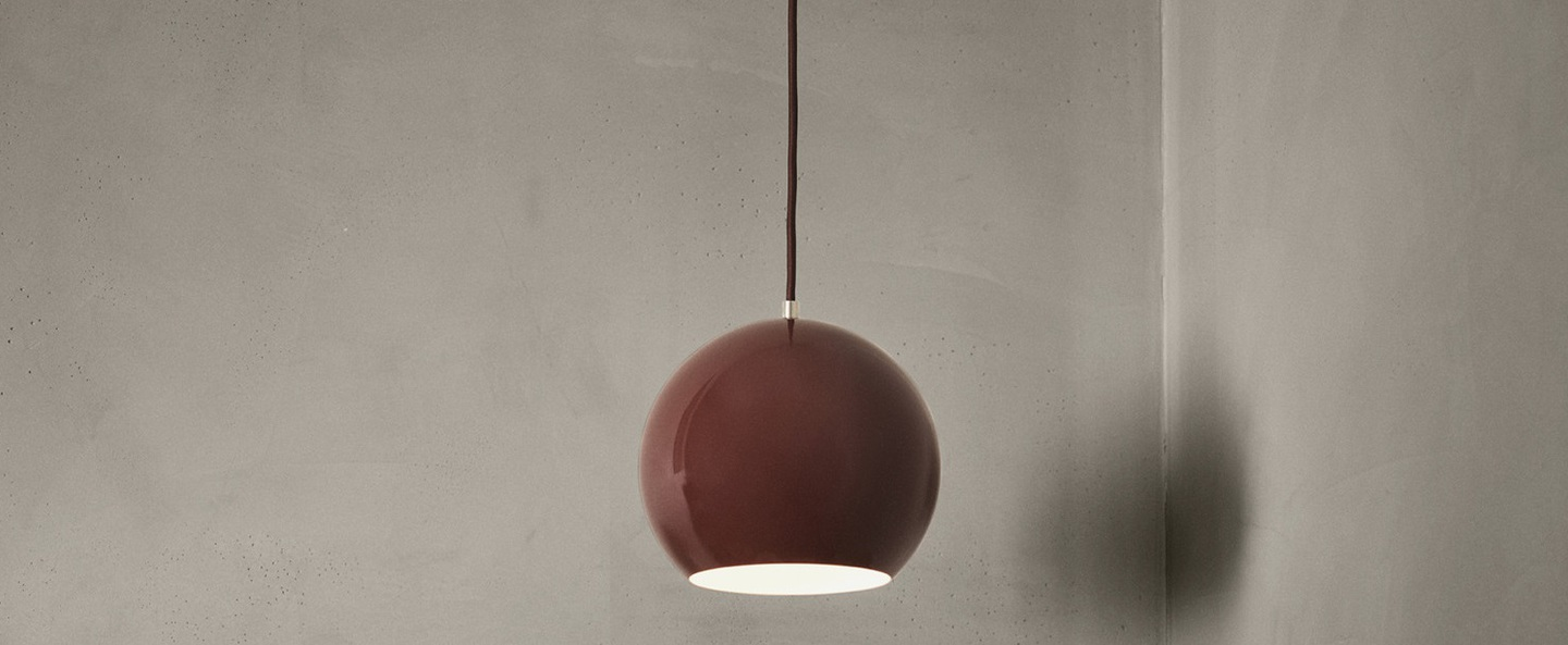Suspension topan vp6 rouge marron o21cm h19cm andtradition normal