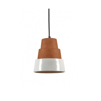 Suspension toscana terracotta blanc o20cm h24cm serax normal